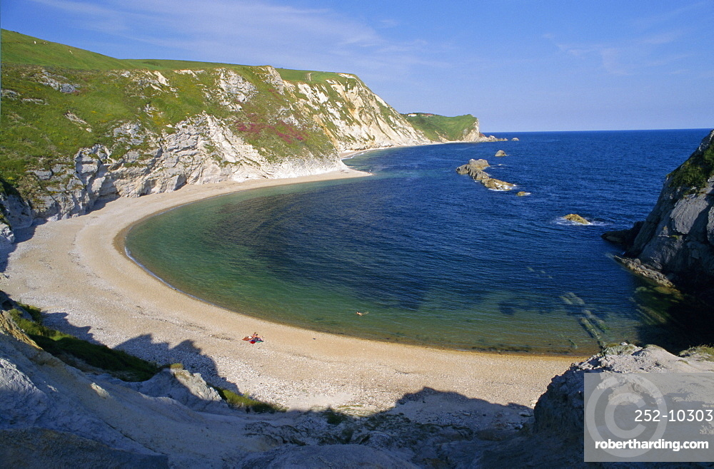 Man O'War Cove, between Lulworth Cove and Durdle Door, Dorset, England, UK, Europe