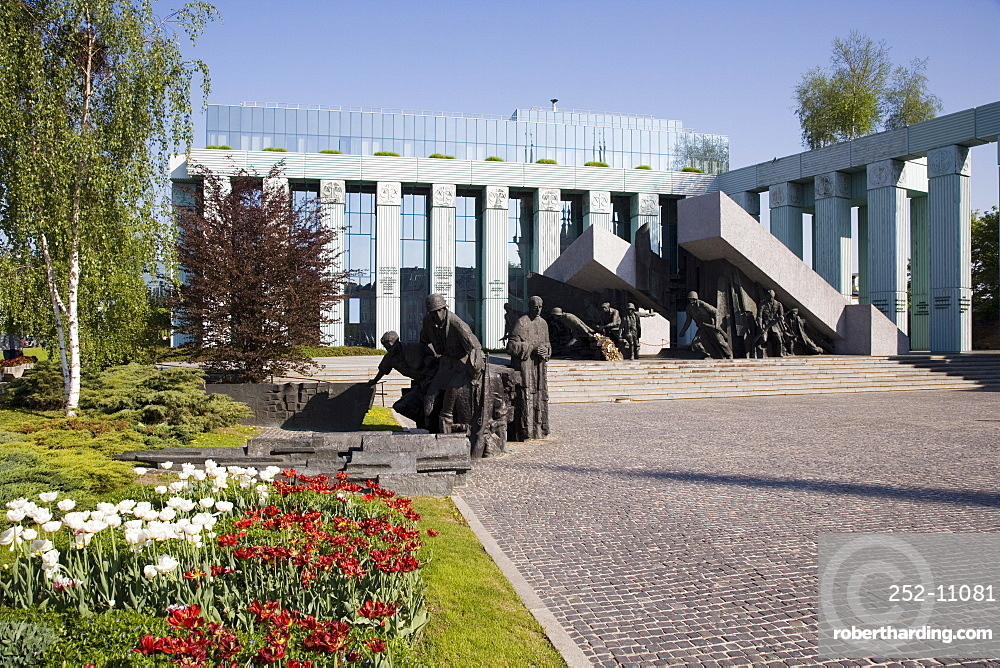 Monument to the Warsaw Uprising (Pomnik Powstania Warszawskiego), unveiled in 1989 on the 45th anniversary of the uprising, Warsaw, Poland, Europe