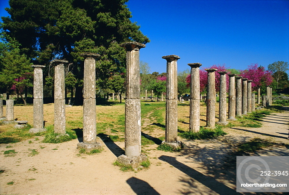Olympia, birthplace of the Olympic games in 776 BC, Greece, Europe