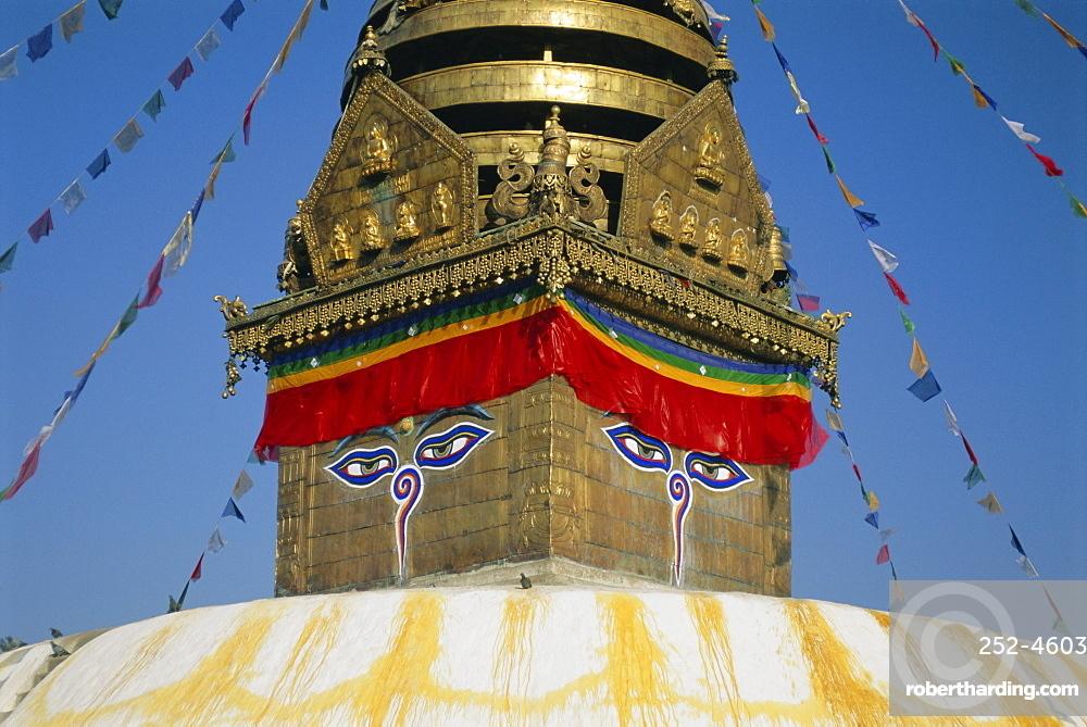 Swayambhunath Stupa, (the Monkey Temple), Kathmandu, Nepal