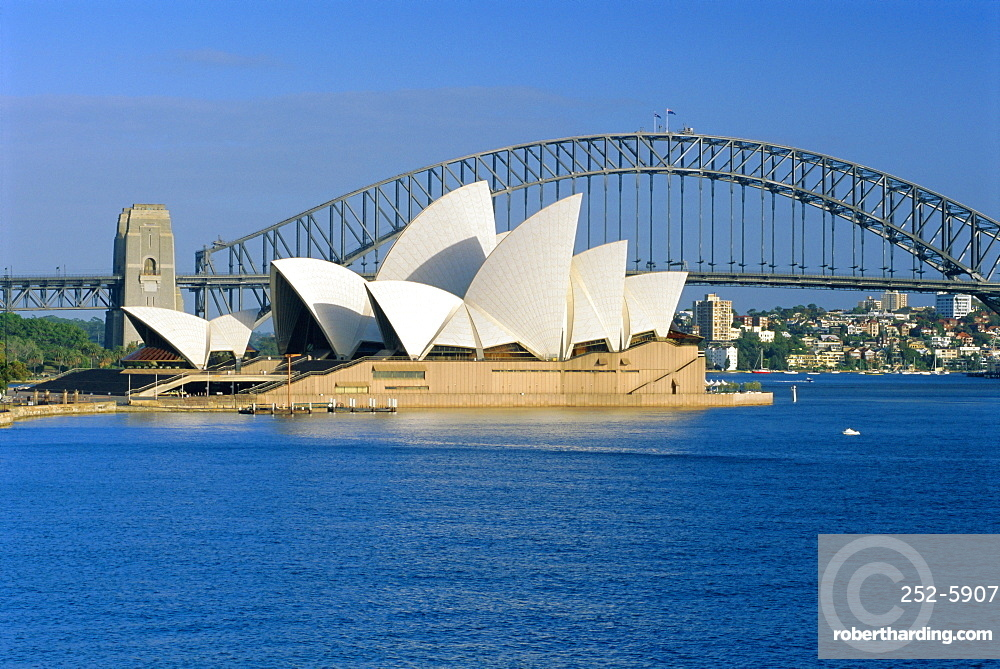 Opera House and Sydney Harbour Bridge, Sydney, New South Wales, Australia
