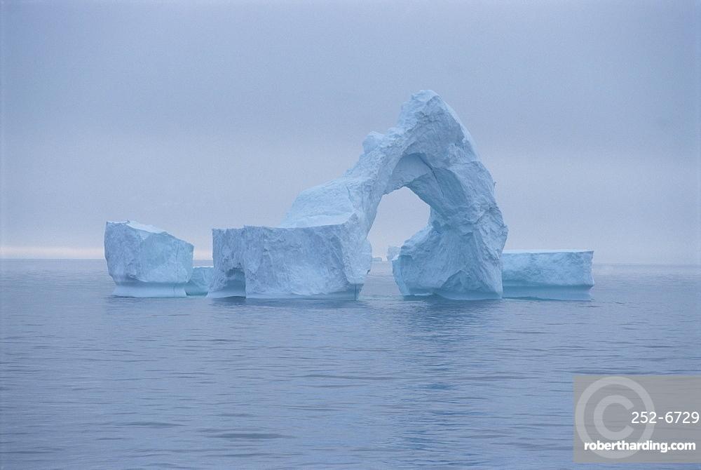 Iceberg in the sea off the southwest coast of Greenland, Polar Regions