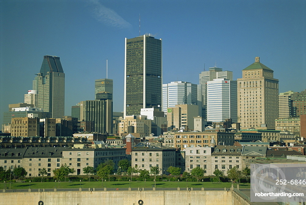 The city skyline of Montreal, Quebec Province, Canada, North America