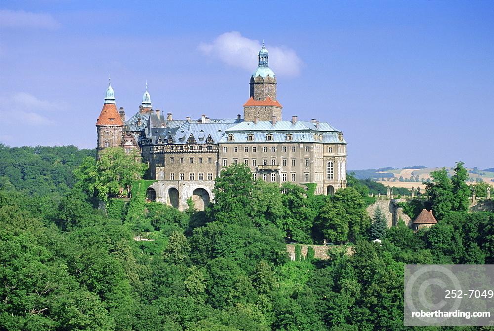 Ksiaz Castle, Sudeten Mountains, Silesia, Poland, Europe