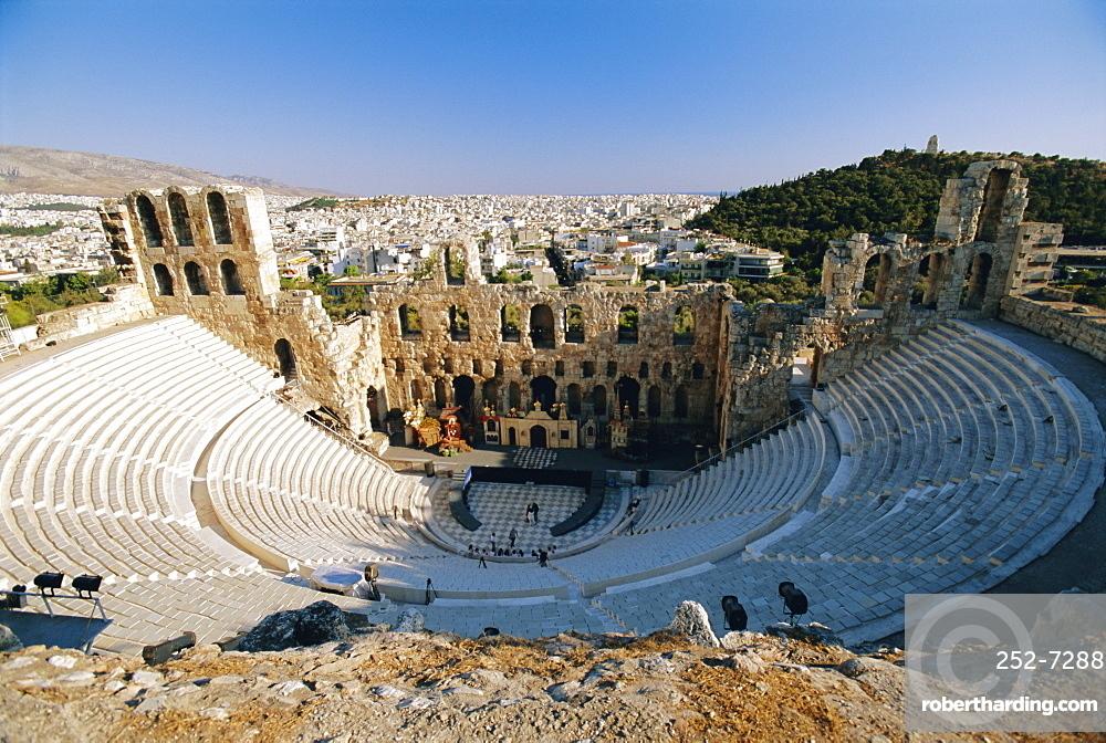 Theatre of Herodes Atticus, The Acropolis, Athens, Greece, Europe