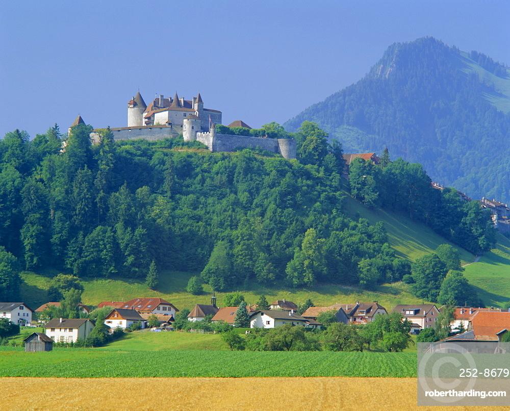 Chateau de Gruyeres, Gruyeres, Fribourg Canton, Switzerland