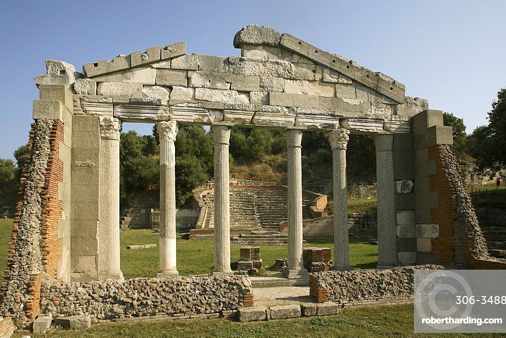 Ancient city, with theatre, Apollonia, Albania, Europe