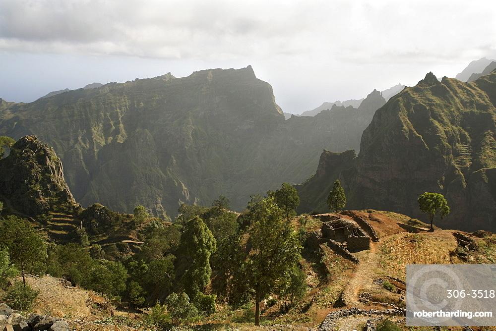 Road between Porto Novo and Ribeira Grande, Santo Antao, Cape Verde Islands, Africa