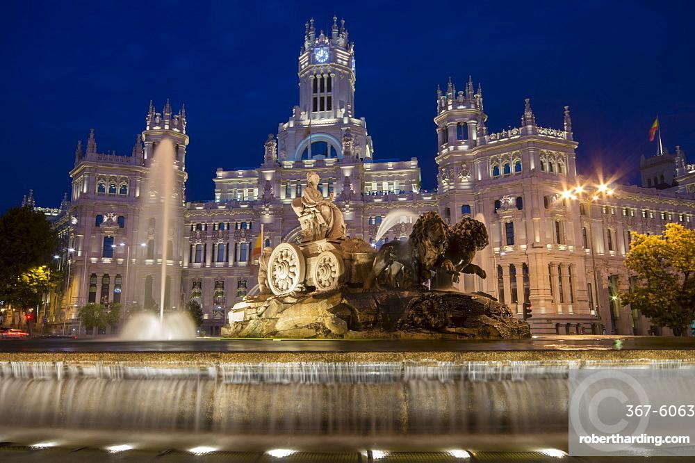 Fountain And Plaza De Cibeles Stock Photo