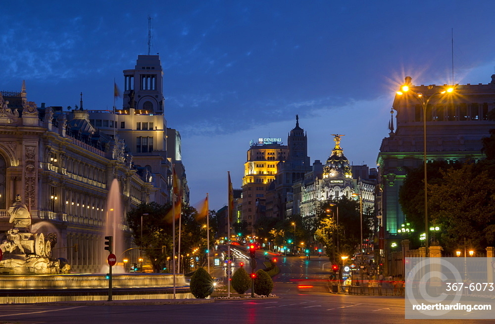 Calle de Alcala, Plaza de Cibeles, Madrid, Spain, Europe
