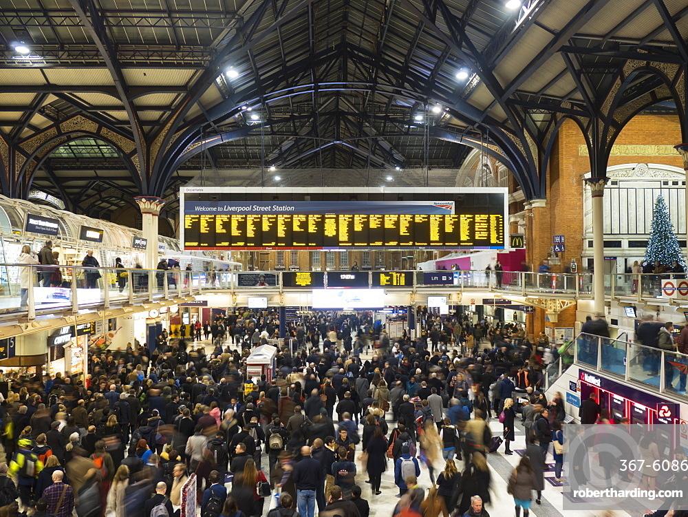 Liverpool Street station interior, London, England, United Kingdom, Europe