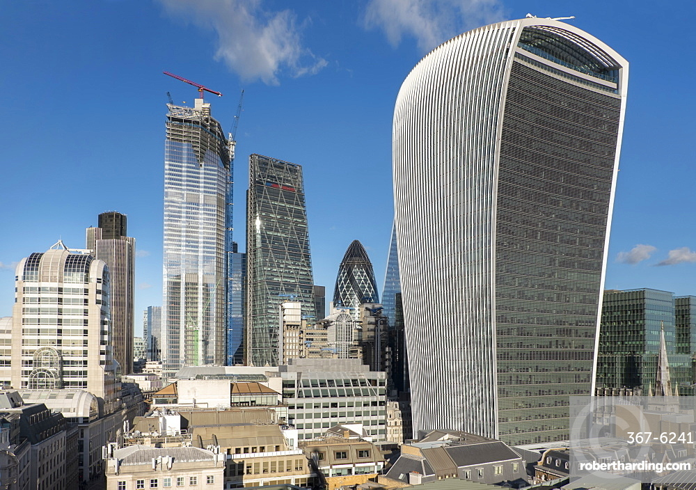 City of London from Monument with Walkie Talkie building in foreground, London, England, United Kingdom, Europe