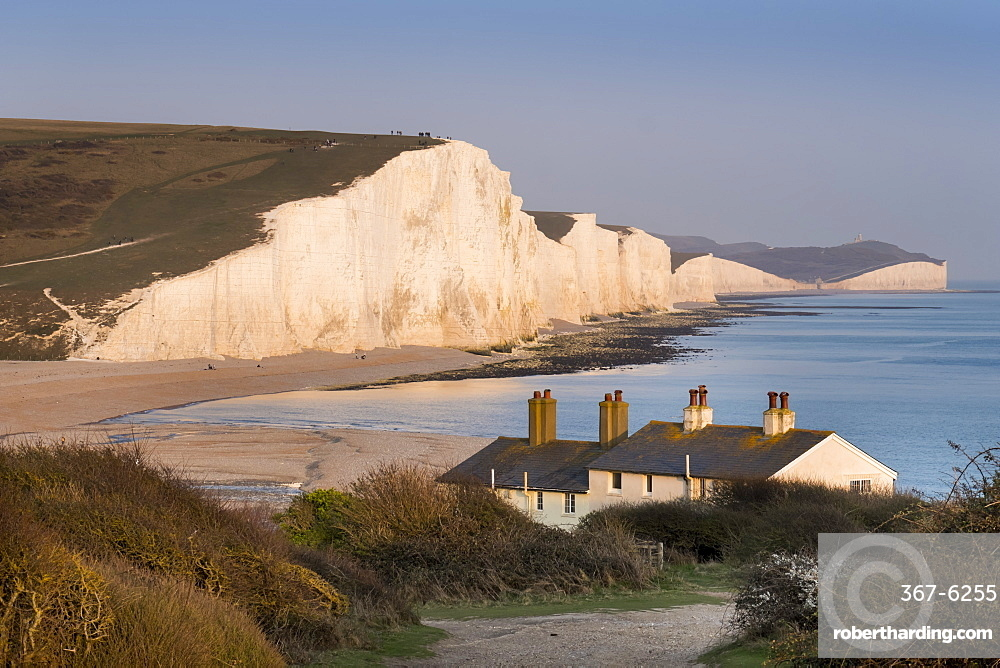 Seven Sisters chalk cliffs, South Downs National Park, East Sussex, England, United Kingdom, Europe