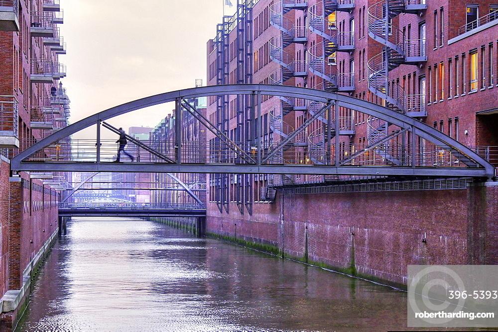 Speicherstadt district, Hamburg, Germany, Europe