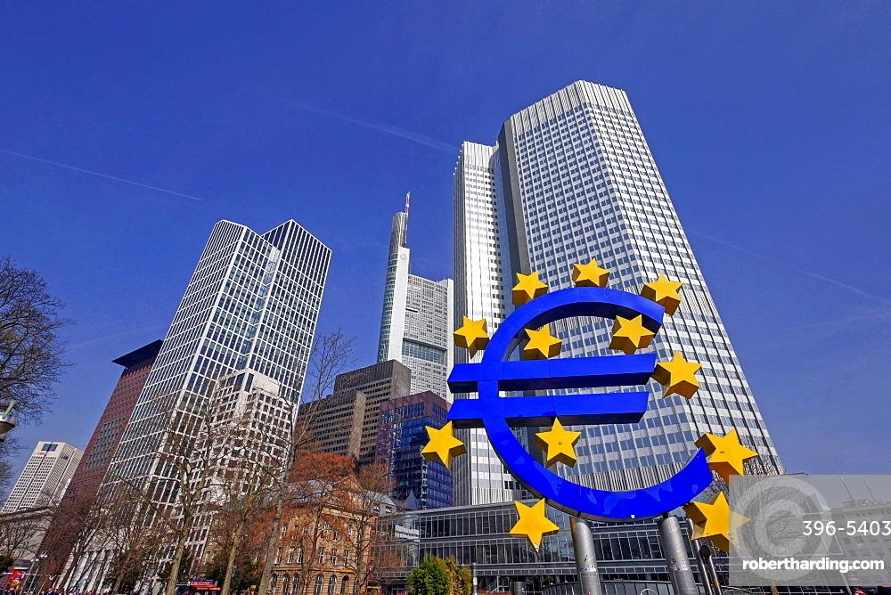 Willy-Brandt Platz and Financial District, Frankfurt am Main, Hesse, Germany, Europe