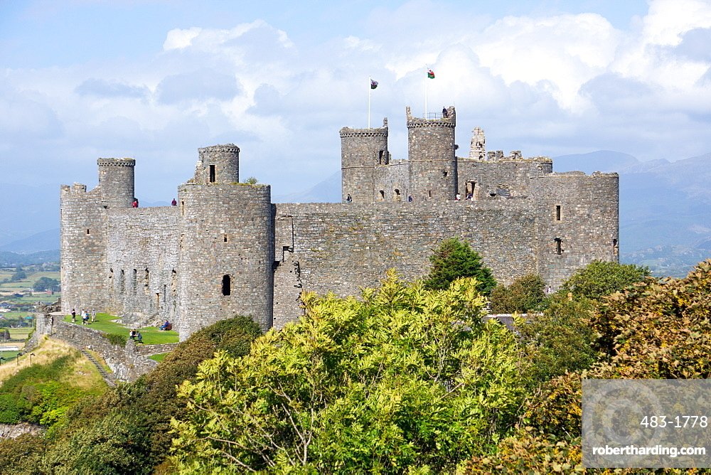 Harlech Castle, dating from the 13th and 14th centuries, UNESCO World Heritage Site, Wales, United Kingdom, Europe
