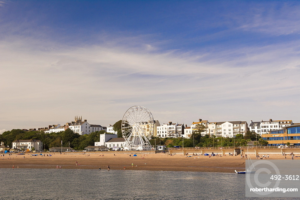 The beach and seafront, Exmouth, Devon, England, United Kingdom, Europe