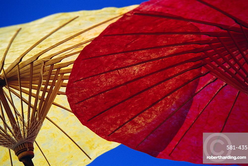 Colourful paper umbrellas, Bor Sang, Chiang Mai, Thailand, Asia