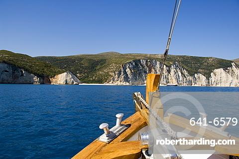 Myrtos Gulf near Assos, Kefalonia (Cephalonia), Greece, Europe