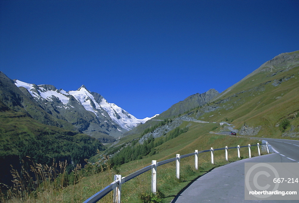 View of the Alps from the Grossglockner road, Austria, Europe