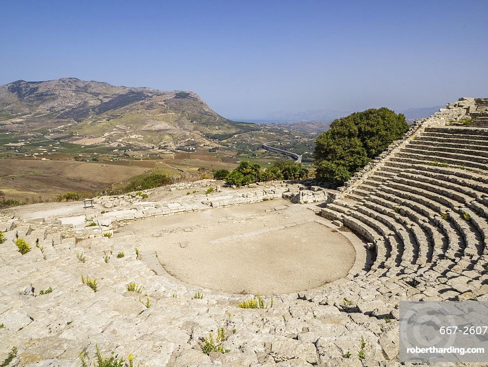 Ampitheatre, Segesta, Sicily, Italy, Europe