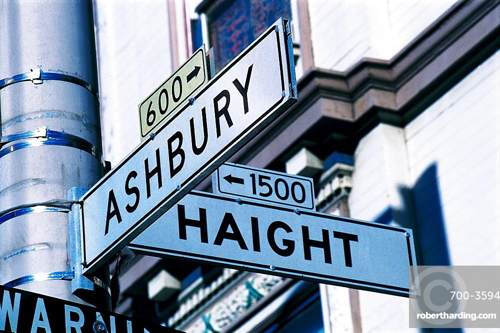 Street Signs At Haight, San Francisco, Usa