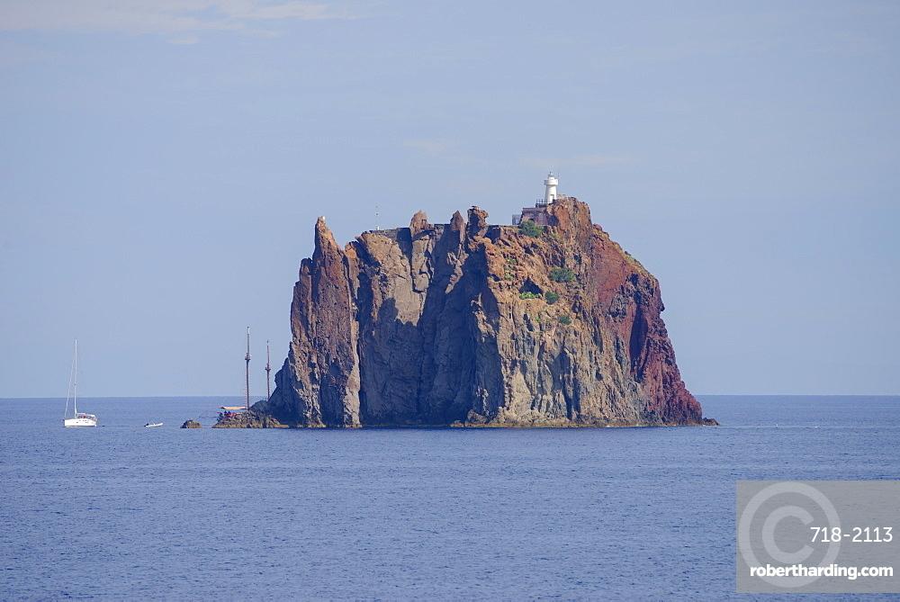 Cliff island Strombolicchio, Stromboli, Aeolian Islands, UNESCO World Heritage Site, Sicily, Italy, Mediterranean, Europe