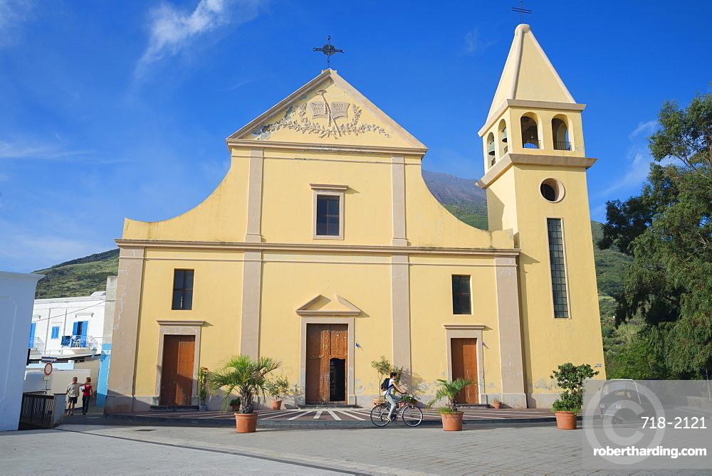 San Vincenzo Ferreri church, Stromboli, Aeolian Islands, UNESCO World Heritage Site, Sicily, Italy, Mediterranean, Europe