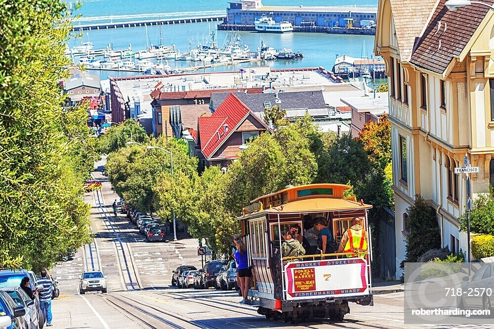 Powell-Hyde line cable car, San Francisco, California, United States of America, North America