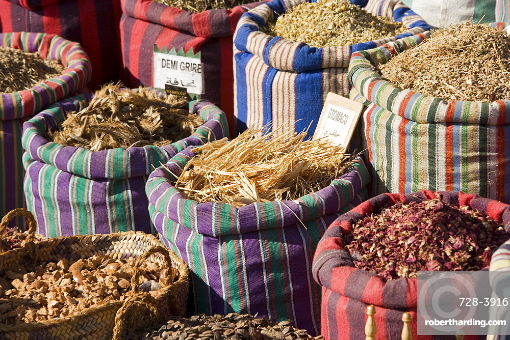 Spices at market, Cairo, Egypt, North Africa, Africa