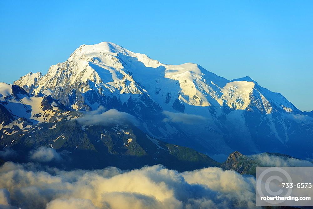 View to Mont Blanc in France, Martigny, Valais, Swiss Alps, Switzerland, Europe