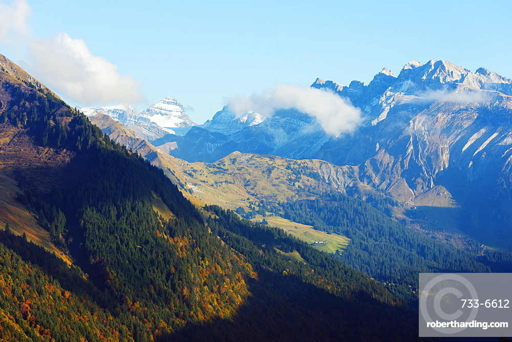 Mountains above Morzine, Rhone Alps, Haute Savoie, France, Europe