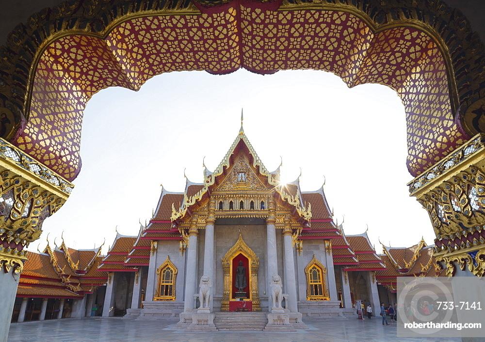 The Marble Temple (Wat Benchamabophit), Bangkok, Thailand, Southeast Asia, Asia