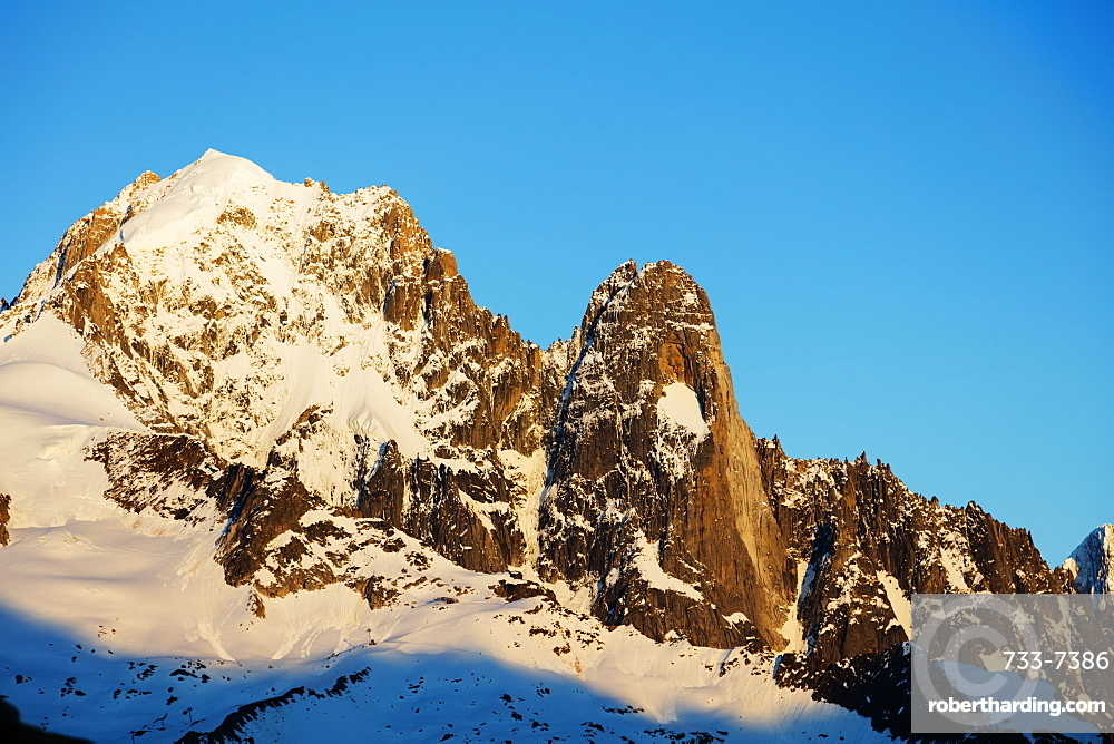 Aiguille Verte, 4122m, and Les Drus, Chamonix, Haute Savoie, Rhone Alpes, French Alps, France, Europe