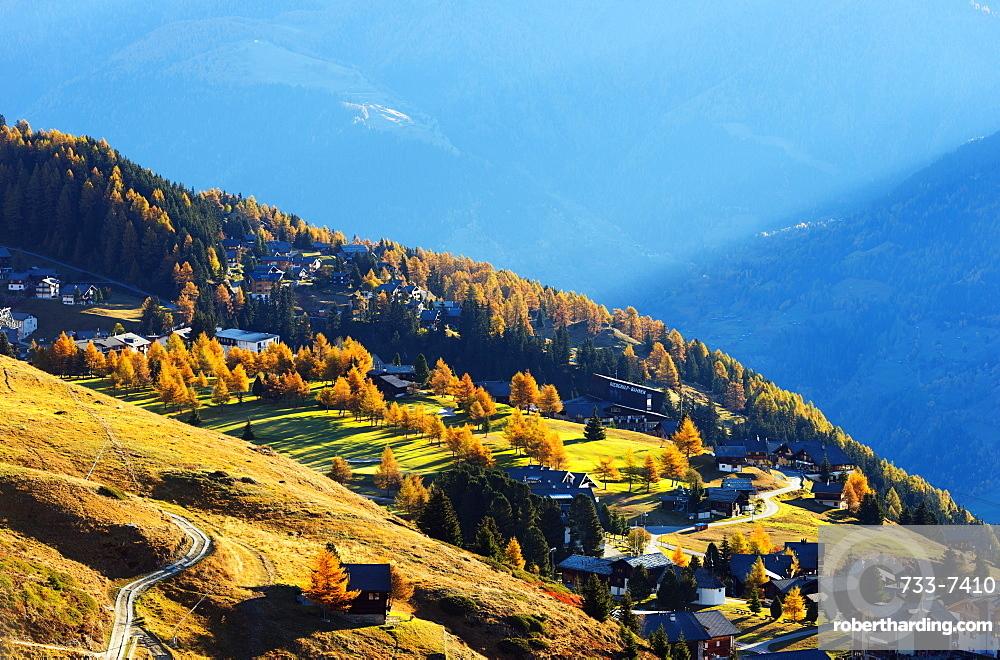 Village of Riederalp, Jungfrau-Aletsch, UNESCO World Heritage Site, Valais, Swiss Alps, Switzerland, Europe