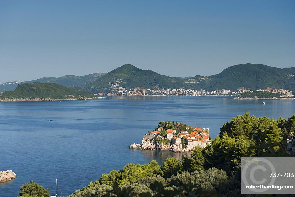 Sveti Stefan and Budva, Montenegro, Europe