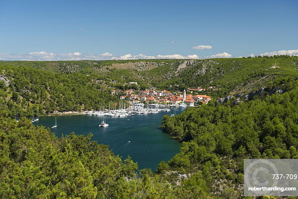 Port of Skradin and boats, Croatia, Europe