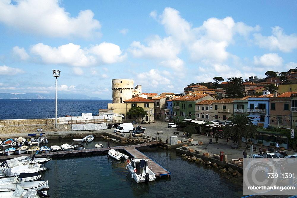 Giglio port, Tuscany, Italy, Europe