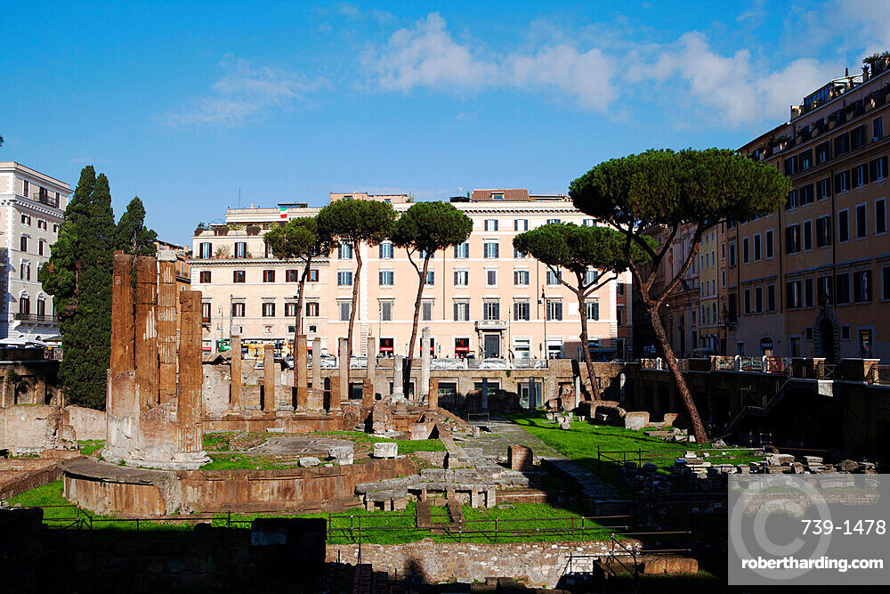 The ancient Roman temples of largo Argentina