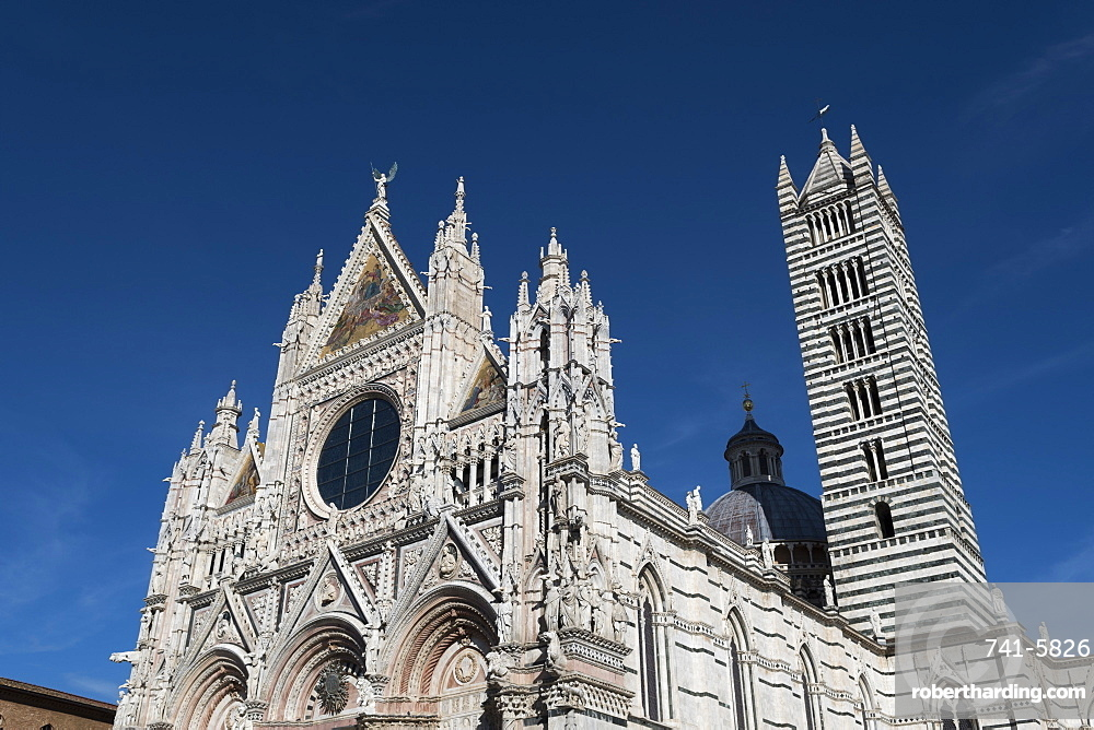 Duomo, the cathedral of Siena, Tuscany, Italy.