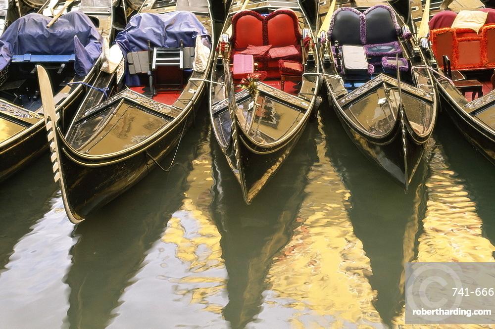 Gondolas, Venice, Veneto, Italy, Europe