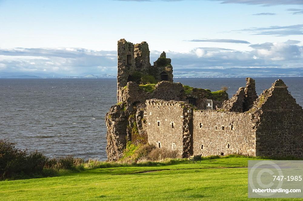 13th Cent Dunure Castle, built by Clan Kennedy, Carrick Coast, Ayrshire, Scotland, UK