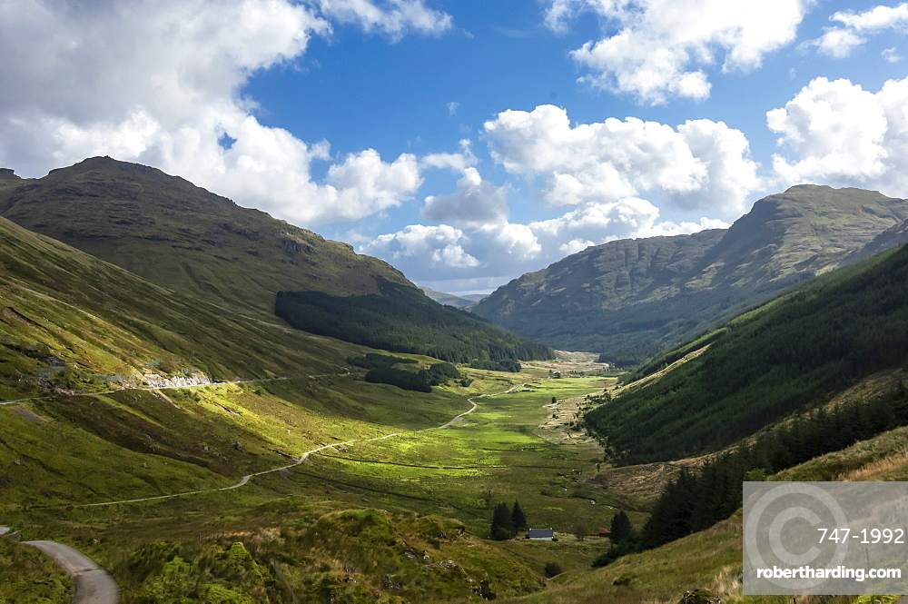 Glen Croe from Rest and be Thankful, Argyll and Bute, Western Scotland, United Kingdom, Europe