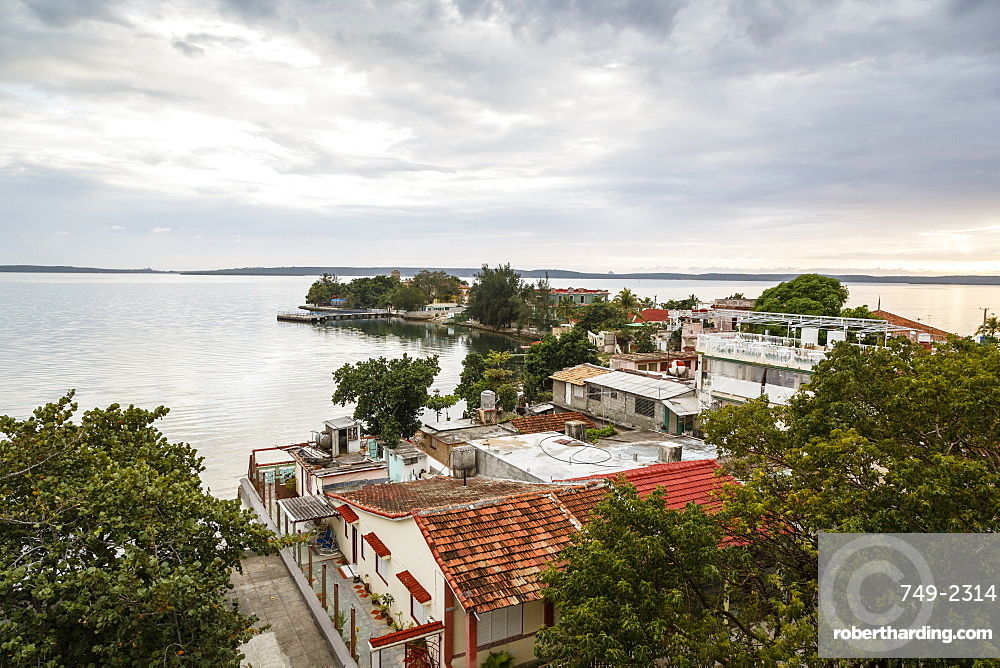View over Punta Gorda and the Cienfuegos Bay, Cienfuegos, Cuba, West Indies, Caribbean, Central America
