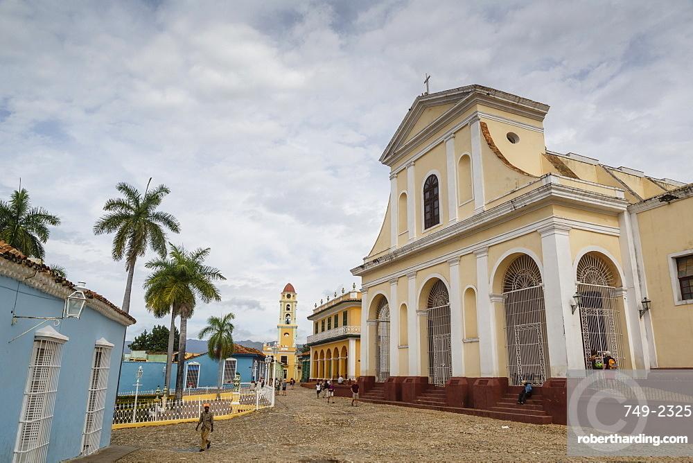Plaza Mayor with the Iglesia Parroquial de la Santisima Trinidad and the Museo Nacional de la Lucha, formerly Iglesia y Convento, Trinidad, UNESCO World Heritage Site, Cuba, West Indies, Caribbean, Central America
