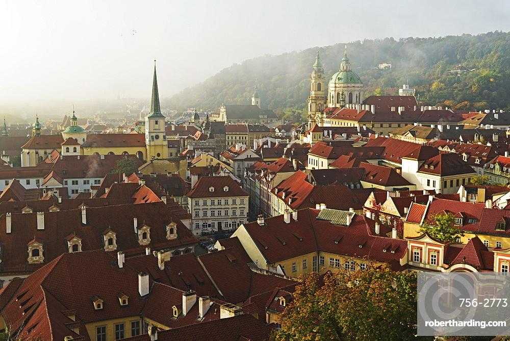 View of Prague from Prague castle, Czech Republic, Europe
