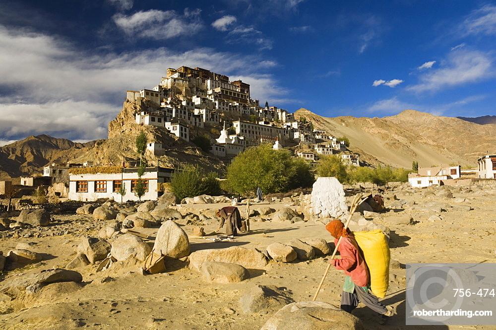 Tikse (Tiksay) gompa (monastery), Tikse (Tiksay), Ladakh, Indian Himalayad, India, Asia