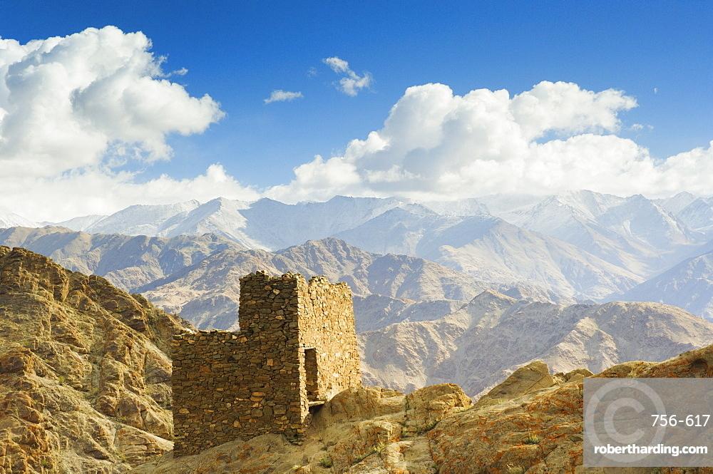 Hemis gompa (monastery) and Ladakh Range, Hemis, Ladakh, Indian Himalayas, India, Asia