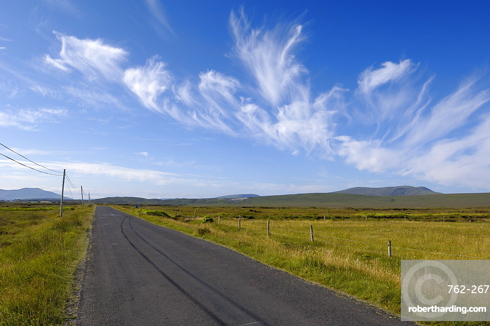 Big sky over Achill Island, County Mayo, Connacht, Republic of Ireland, Europe