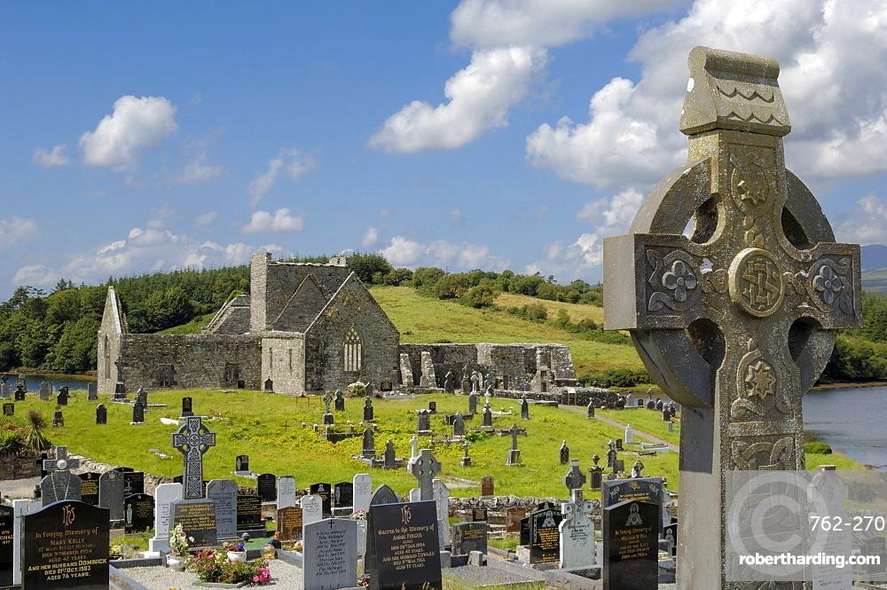 Burrishoole Abbey, near Newport, County Mayo, Connacht, Republic of Ireland, Europe
